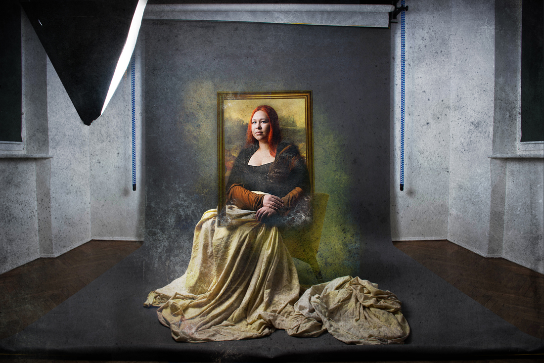 Pastisz Fotograficzny Mona Lisa & madame Oopjen Coppit & Matka Whistlera