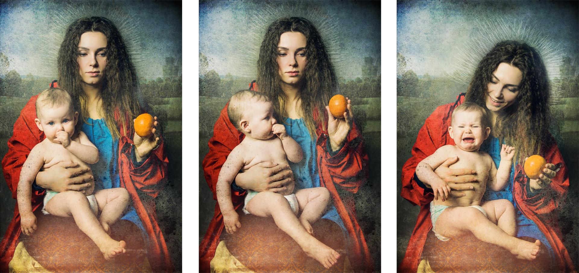 """Hans Memling """"Madonna z dzieciątkiem"""""""